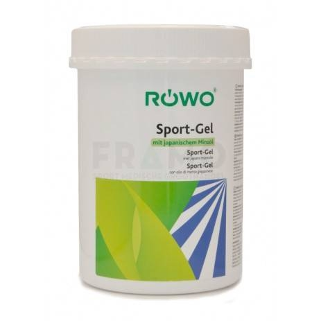 Rowo sportgelei + pomp  pot 1000 ml.